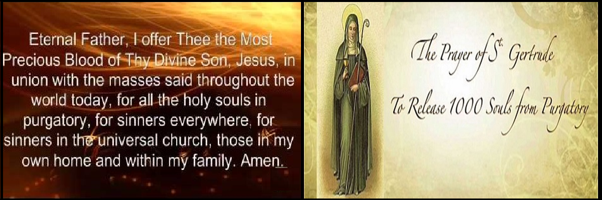 Pray for the Souls in Purgatory during November