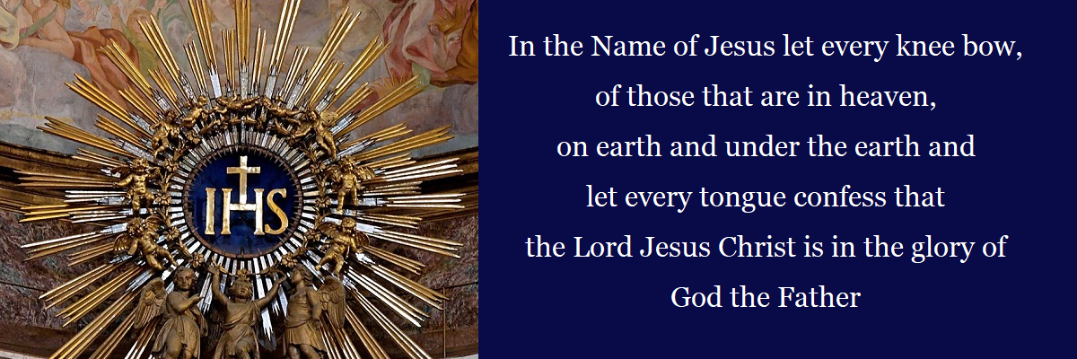 January is dedicated to the Holy Name of Jesus